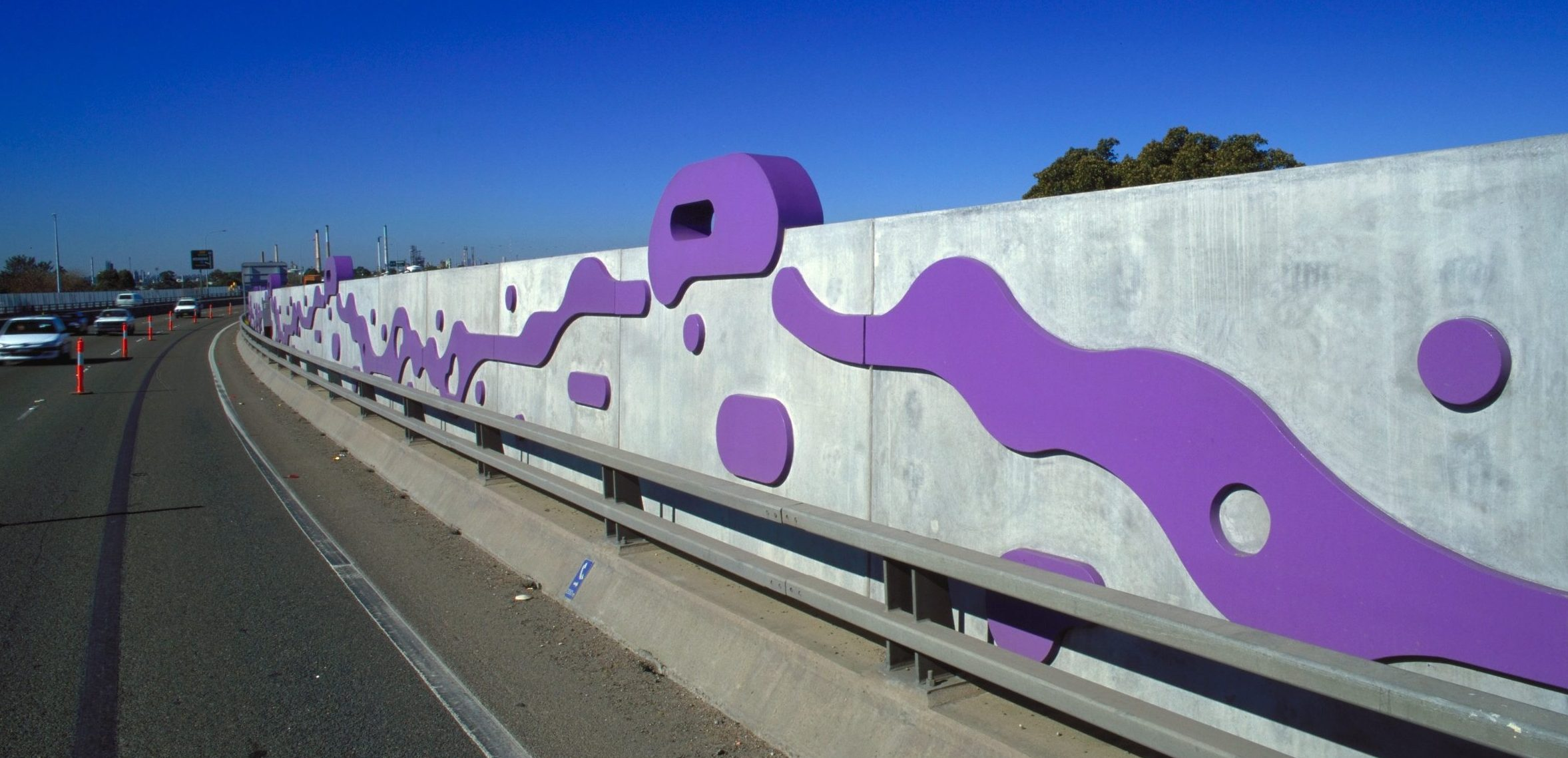 Noise barriers on a bridge, Australia